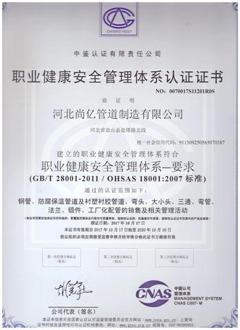 锻制法兰生产厂家职业健康证书